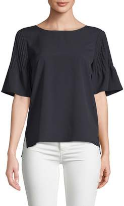 French Connection Women's Bell Sleeve Top
