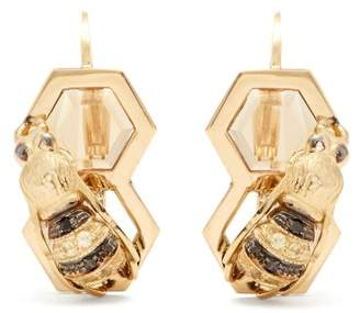 Delfina Delettrez Diamond, Sapphire & Yellow Gold Earrings - Womens - Gold