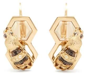 Delfina Delettrez Diamond, Sapphire & Yellow Gold Earrings - Womens - Gold