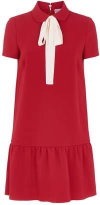 RED Valentino Tie Neck Mini Dress