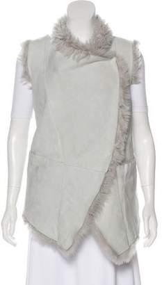 Giorgio Brato Shearling Longline Vest