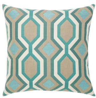 Turquoise Geo Indoor/Outdoor Accent Pillow