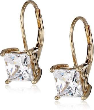 Swarovski Amazon Collection Sterling Silver Zirconia 5 cttw Princess Drop Earrings