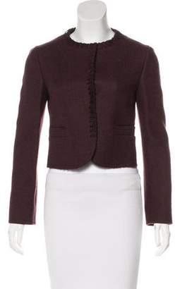 Miu Miu Long Sleeve Virgin Wool Jacket