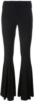 Norma Kamali flared leg trousers