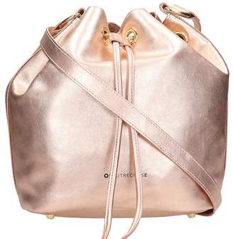 L'Autre Chose Lautre Chose LAutre Chose Pink Laminated Bag In Black Leather