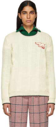 Gucci White Elephant Patch Sweater