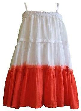 Finn NEW Girls' dip dye dress in red Girl's by Willow and