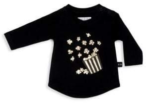 Huxbaby Baby Girl's& Little Girl's Love Stories Popcorn Cotton Top