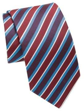 Eton Colorblock Striped Silk Tie