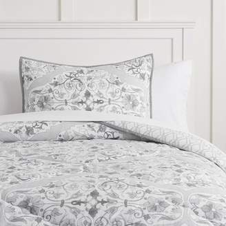 Pottery Barn Teen Floral Damask Comforter, Twin/Twin XL, Gray Multi