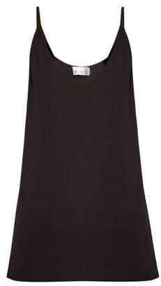 Raey Deep Scoop Neck Ribbed Jersey Cami Top - Womens - Black