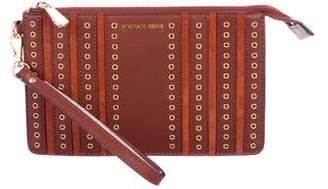 MICHAEL Michael Kors Leather & Suede Wristlet