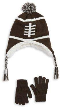 Capelli New York Boy's Two-Piece Football Hat and Mittens Set