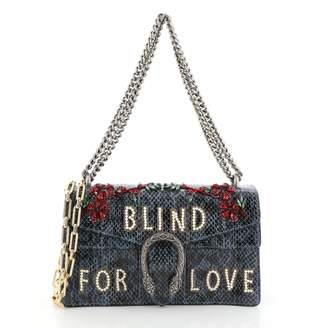 Gucci Dionysus Blue Exotic leathers Handbags