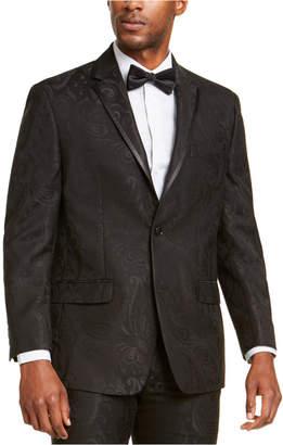 Sean John Men Classic-Fit Black Paisley Suit Jacket