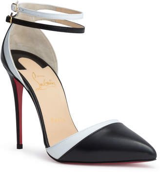 Christian Louboutin Uptown Double 100 black leather pumps