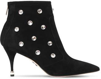 Paul Andrew 75mm Embellished Suede Ankle Boots