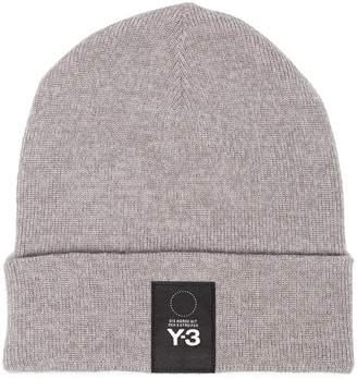 Y-3 logo patch beanie