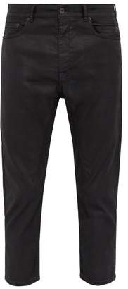 Rick Owens Berlin Slim Fit Cropped Jeans - Mens - Black