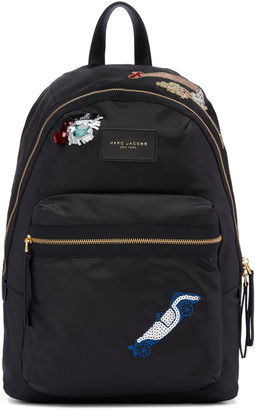 Marc Jacobs Black Nylon Collage Biker Backpack $250 thestylecure.com