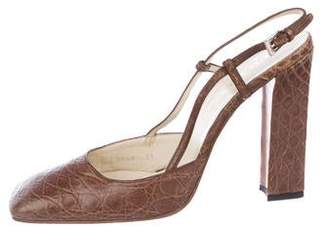 6a2ef7879 Brown Crocodile Pumps - ShopStyle