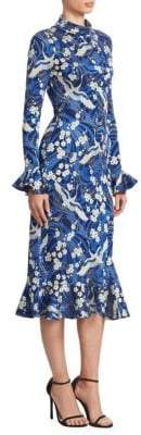 Erdem Alta Ruffle Midi Dress