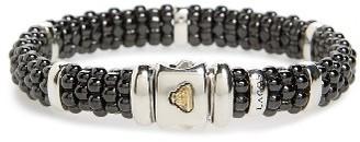 Women's Lagos Black Caviar Station Bracelet $500 thestylecure.com