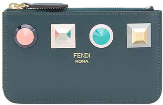 Fendi geometric stud coin pouch