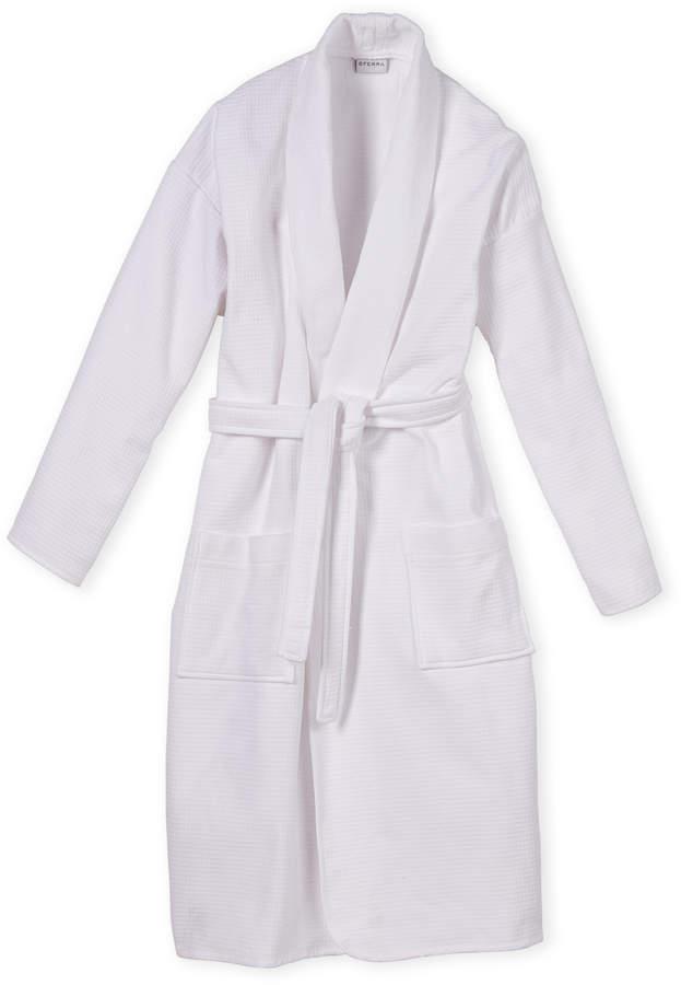 Sferra White Bronson Bath Robe