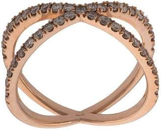 Eva Fehren diamond double-ring
