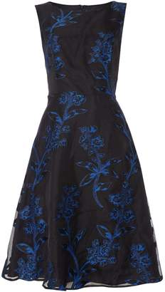 Untold Fit and flare embroidered tulle dress