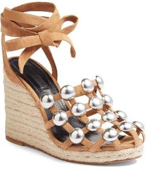 Women's Alexander Wang Taylor Stud Wedge Sandal $595 thestylecure.com