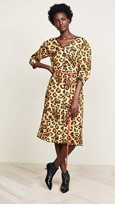 Marc Jacobs Printed V Neck Dress