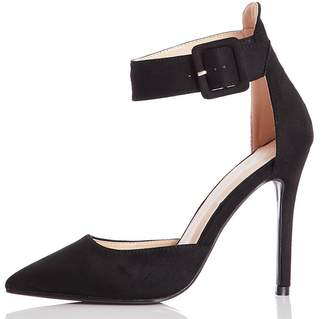 Quiz Black Faux Suede Pointed Toe Heels