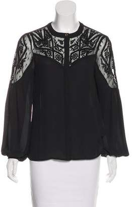 ALICE by Temperley Embroidered Button-Up Top