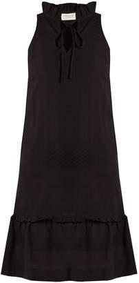 DAY Birger et Mikkelsen CECILIE COPENHAGEN Tie-neck scarf-jacquard cotton dress