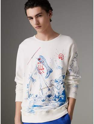 Burberry Adventure Print Cotton Sweatshirt