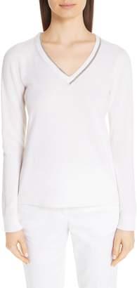 Fabiana Filippi Chain Trim Cashmere Sweater