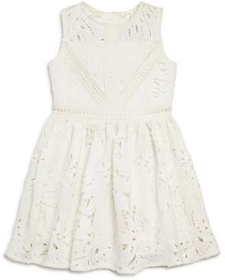 Bardot Junior Girls' Panama Leaf-Lace Dress - Little Kid