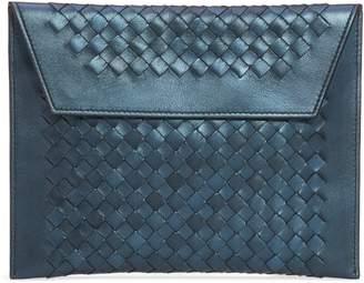 Bottega Veneta Set of 3 Metallic Leather Pouches