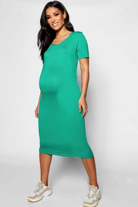 boohoo Maternity Basic Midaxi Dress