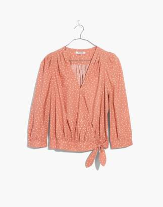 Madewell Wrap Top in Star Scatter