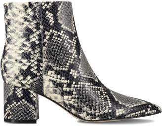 Marc Fisher Jarli Snakeskin-Print Booties