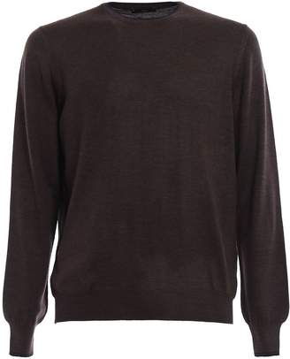 Fay Contrasting Elbow Patch Sweater