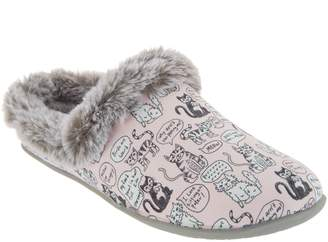 Skechers BOBs Clog Slippers - Quote Me Kitty