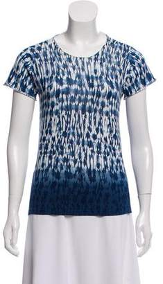Thakoon Patterned Short Sleeve Top