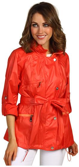Vince Camuto Scarlet Belted Roll Sleeve Jacket