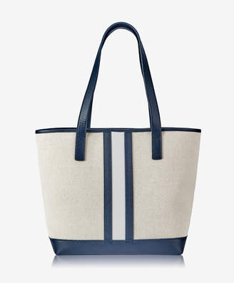 GiGi New York Baja Tote, Italian Canvas & Camel Calfskin Leather