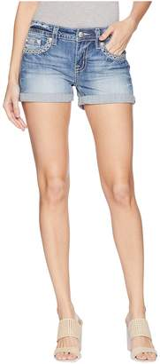 Miss Me Mid-Rise Cuffed Shorts Women's Shorts